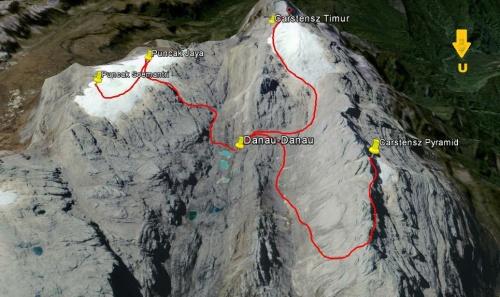 Jalur Pendakian Empat Puncak Pegunungan Tengah Papua